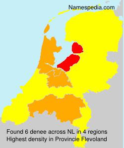 Surname denee in Netherlands