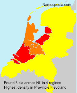 Surname zia in Netherlands
