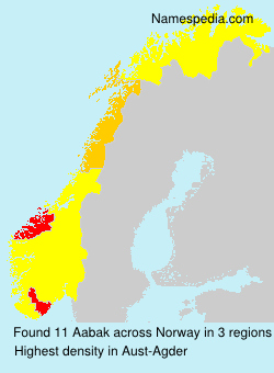 Surname Aabak in Norway