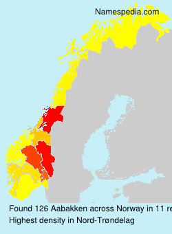 Surname Aabakken in Norway