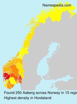 Surname Aaberg in Norway