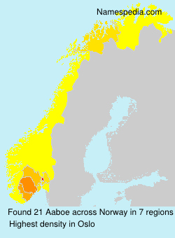 Surname Aaboe in Norway