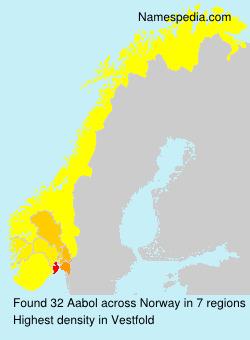 Familiennamen Aabol - Norway