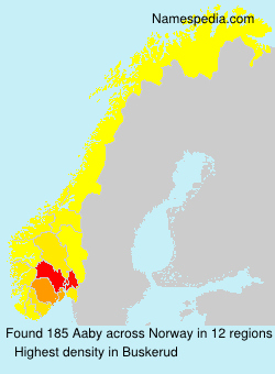 Surname Aaby in Norway