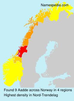 Familiennamen Aadde - Norway