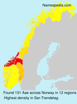 Familiennamen Aae - Norway