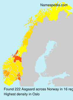 Surname Aagaard in Norway