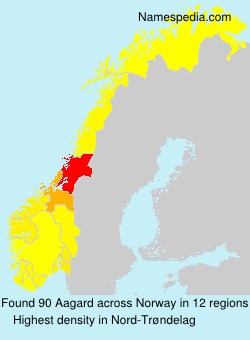 Surname Aagard in Norway