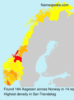 Surname Aagesen in Norway