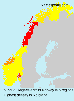 Surname Aagnes in Norway