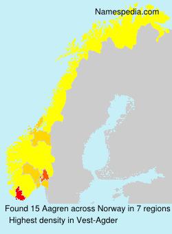 Familiennamen Aagren - Norway