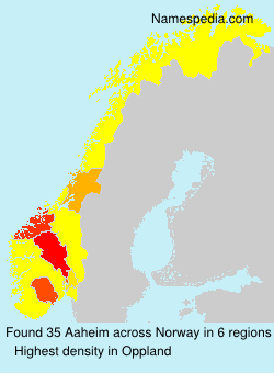 Surname Aaheim in Norway