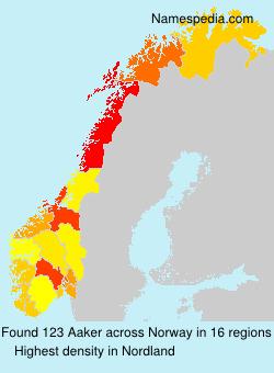 Surname Aaker in Norway