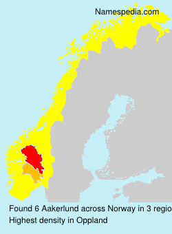Surname Aakerlund in Norway