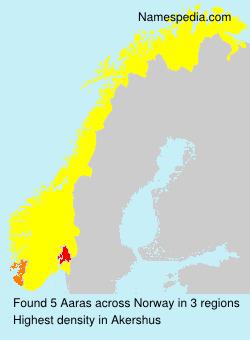 Surname Aaras in Norway