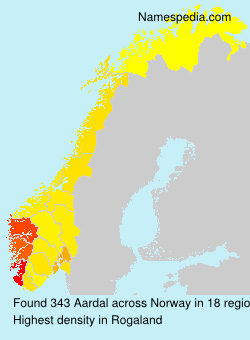 Surname Aardal in Norway