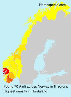 Familiennamen Aarli - Norway