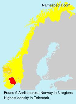 Familiennamen Aarlia - Norway