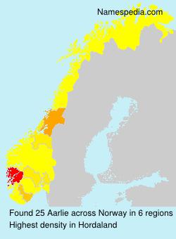 Familiennamen Aarlie - Norway