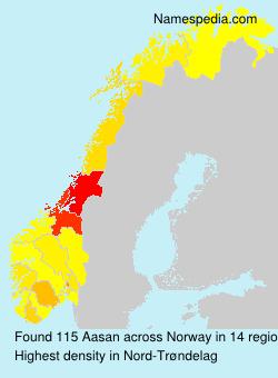 Surname Aasan in Norway