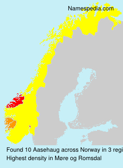 Surname Aasehaug in Norway