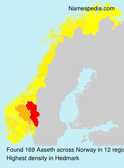 Familiennamen Aaseth - Norway