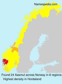Surname Aasmul in Norway