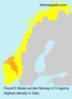 Surname Abate in Norway