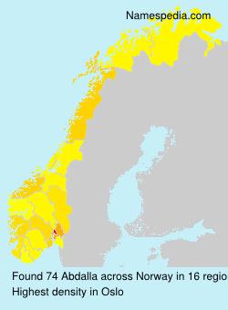 Surname Abdalla in Norway