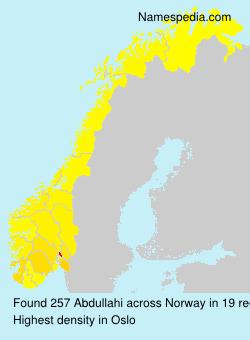 Familiennamen Abdullahi - Norway