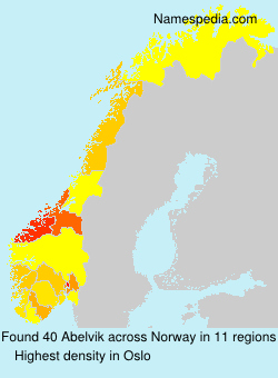Surname Abelvik in Norway