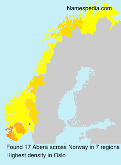 Surname Abera in Norway