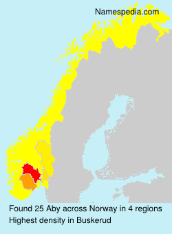 Surname Aby in Norway