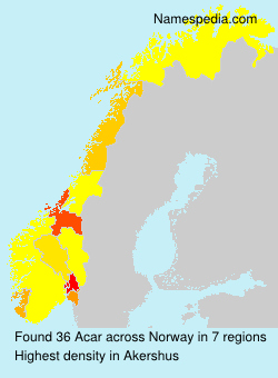 Surname Acar in Norway