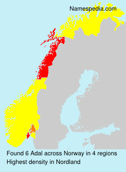 Surname Adal in Norway