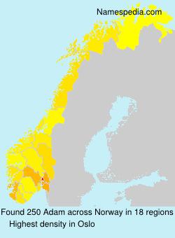 Surname Adam in Norway