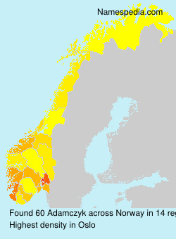 Surname Adamczyk in Norway