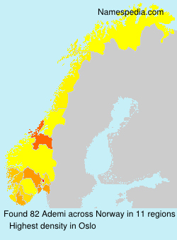 Surname Ademi in Norway