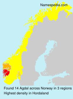 Surname Agdal in Norway