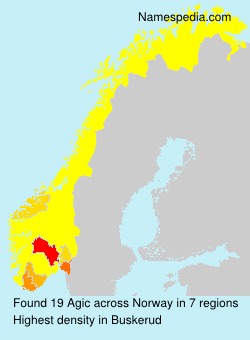Surname Agic in Norway