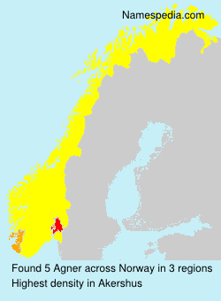 Surname Agner in Norway