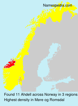 Surname Ahdell in Norway