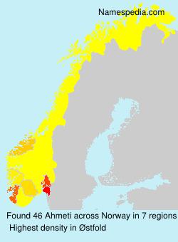 Surname Ahmeti in Norway