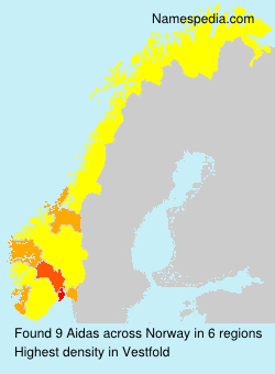 Surname Aidas in Norway