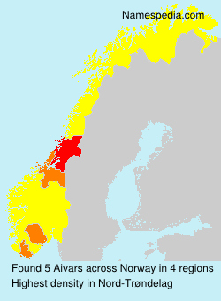 Surname Aivars in Norway