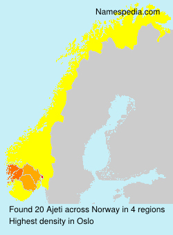 Familiennamen Ajeti - Norway
