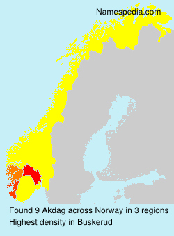 Surname Akdag in Norway