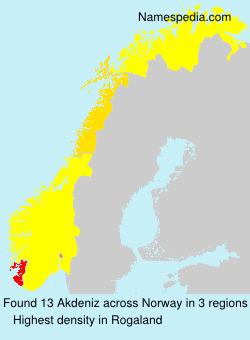 Surname Akdeniz in Norway