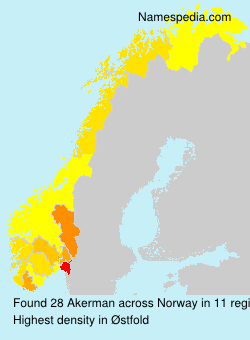 Surname Akerman in Norway