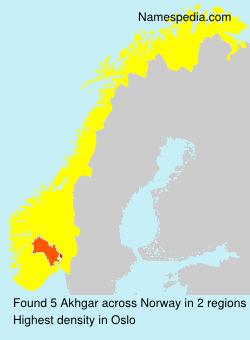 Surname Akhgar in Norway